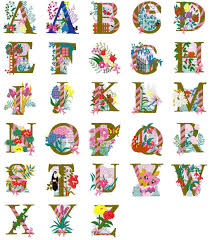 Free Embroidery Designs Jef Format Free Machine Embroidery Alphabet Floral Design Complete
