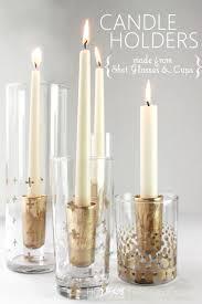 Diy Gold Candle Holders Remodelaholic Diy Gold Leaf Candle Holders