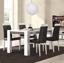 fresh modern white dining table set