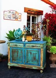 boho chic furniture. Boho Chic Furniture Rustic Coastal Blue Color Dresser Vintage Two Window Outdoor Property Make And Jill