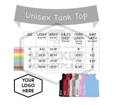 Infant Size Chart 2t Kavio Unisex Tank Size Chart Toddler Infant Youth Tank Top Size Chart Ijp0661 Tjp0661 Gjp0661 Add Your Own Branding Digital File