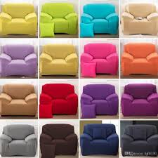 16 Colours Sofa Cover Stretch Fabric Slipcover Elastic  Single/Two/Three/Four Seater Sofa Cover Can Be Machine Wash Parsons Chair  Covers Recliner Sofa Covers ...