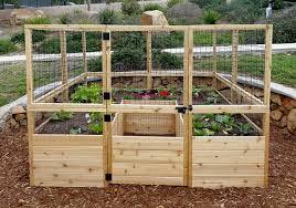 deer fence for garden raised bed 8 x8