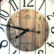 oversized farmhouse wall clock kids room curtains ideas