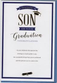 For A Special Son On Your Graduation Congratulations Card