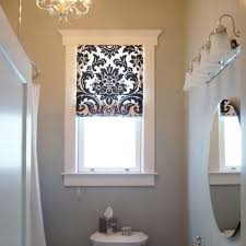 image of small window treatments for bathrooms