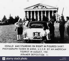 Image result for Photo of Oswald next to Car in Minsk Square