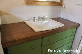 sealed wood countertops wooden bathroom countertop dark stained maple wood flooring best way to seal wood