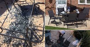 asda investigates patio set which explodes in sunshine after four year old boy left showered in glass mirror