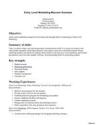 Entry Level Marketing Resume Sample Simply Sarah Me