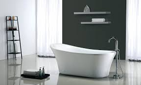 ove decors rachel 70 inch freestanding acrylic bathtub pure white