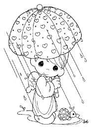 Small Picture Free Coloring Pages Of Couples Precious Moments Boy In The Raining