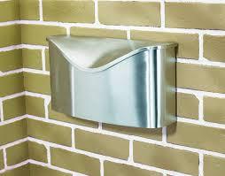 wall mount mailbox envelope. Umbra Postino Wall-Mount Mailbox, Stainless Steel - Modern Mailbox  Amazon.com Wall Mount Mailbox Envelope P