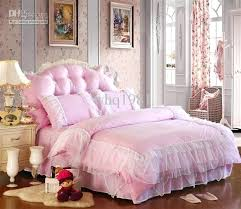 pink quilt queen luxury lace bedspread princess bedding sets king size duvet cover bed skirt bedclothes
