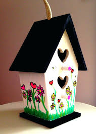 unfinished wooden birdhouses painted birdhouse outdoor handmade wood kits unfinished wooden birdhouses
