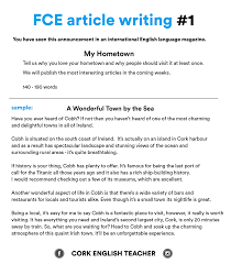 first certificate exam fce article writing my hometown first certificate exam fce article writing 1 my hometown
