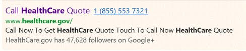 Healthcare Gov Quote Best Google Clicktocall Ad For HealthCaregov Is A Fake Trust But Verify