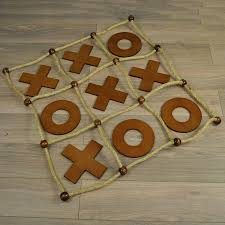 Wooden Naughts And Crosses Game delux wooden noughts and crosses game by garden selections 21