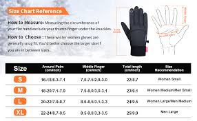 Five Gloves Size Chart Anqier Winter Gloves Newest Windproof Warm Touchscreen Gloves Men Women For Cycling Running Outdoor Activities
