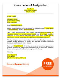 Nurse Resignation Letter Simple Professional Reference Letter Sample For Nurses