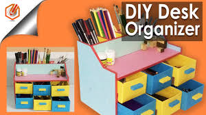 Diy Desk Organizer Easy Diy Desk Organizer Drawer Organizer Pencil Holder Youtube