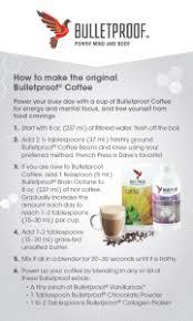 Bulletproof Food Chart Recipe How To Make Bulletproof Coffee