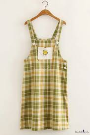 <b>Summer Girls</b> Cute Cartoon Cat <b>Embroidery</b> Check Pattern Mini ...