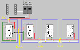 electrical circuits in a workshop home improvement stack exchange Wiring Gfci Outlets In Series afci protected multiwire branch circuit with gfci receptacles how to connect gfci outlets in series