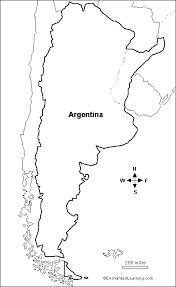 Small Picture Argentina map coloring page Travel Pinterest Argentina map