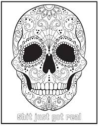Coloring The Swear Word Coloring Book Free Printable Page