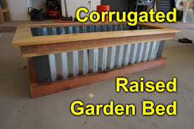 elevated garden bed plans. Corrugated Raised Garden Bed - DIY Easy Build Project To Beautify You YouTube Elevated Plans