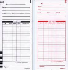 Compumatic Xl1000 Time Cards 1000