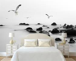 Beibehang in bianco e nero gabbiano sfondo 3d wallpaper foto