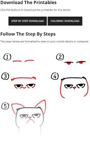 easy grumpy cat drawing.  Easy Grumpycatprintables Intended Easy Grumpy Cat Drawing N