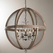 sphere lighting fixture. Wire Sphere Crystal Chandelier - Large Bronze Lighting Fixture