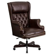 brown leather office chair. Modren Leather Flash Furniture High Back Traditional Tufted Brown Leather Executive Swivel  Chair With Arms And Office G