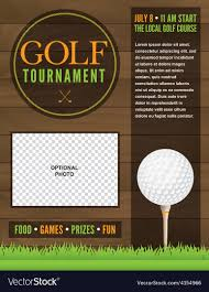 Golf Tournament Flyer Template Golf Tournament Flyer Template