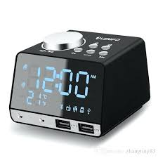 alarm clock radio for bedrooms with charger adjule brightness volume dual alarms speaker usb ihome ibt232 bluetooth charging