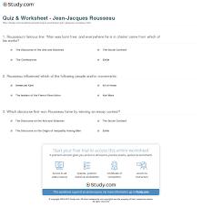 quiz worksheet jean jacques rousseau com print jean jacques rousseau ideas impact works worksheet