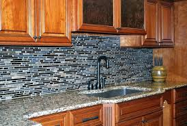 Kitchen With Glass Tile Backsplash Delectable Mosaic Glass Tile Backsplash Emusicexchange