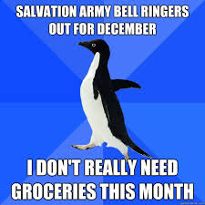 Image result for salvation army bell ringers funny
