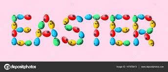 word easter egg word easter made of eggs stock photo belchonock 147476413