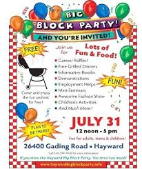Picnic Flyers Block Party Flyer Templates Template Flyers Free Mediaschool Info