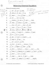 balancing chemical equations practice worksheet with answers davezan