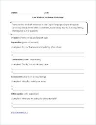 Declarative And Interrogative Sentences Worksheets Grade Free ...