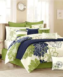 navy and green bedding comforter set blue mint