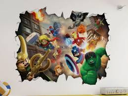 marvel lego 3d look wall vinyl sticker avengers childrens bedroom mural on marvel comics mural wall graphic with marvel lego 3d look wall vinyl sticker avengers childrens bedroom
