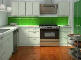 Kitchen  Cute Green Apple Kitchen Decorating Ideas With White - Lacquered kitchen cabinets