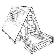 A Frame House Plans   A Frame Floor PlansA Frame House Plans   Deck