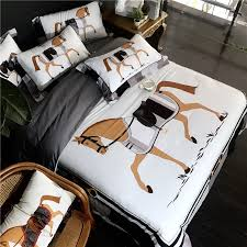 luxury digital printing 100s egyptian cotton royal bedding sets queen king western duvet cover bed sheet